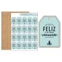 Kit de 20 Etiquetas de Madera Comunión Azul
