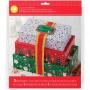Kit de 3 cajas de regalo navideñas Wilton