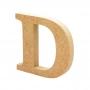 Letra de Madera D 12 cm