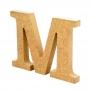 Letra de Madera M 12cm