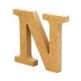 Letra de Madera N 12cm