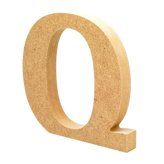 Letra de Madera Q 12cm