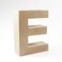 Letra E de Cartón 17cm