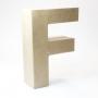 Letra F de Cartón 17cm