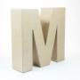 Letra M de Cartón 17cm