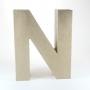 Letra N de Cartón 17cm