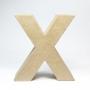 Letra X de Cartón 17cm