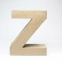 Letra Z de Cartón 17cm