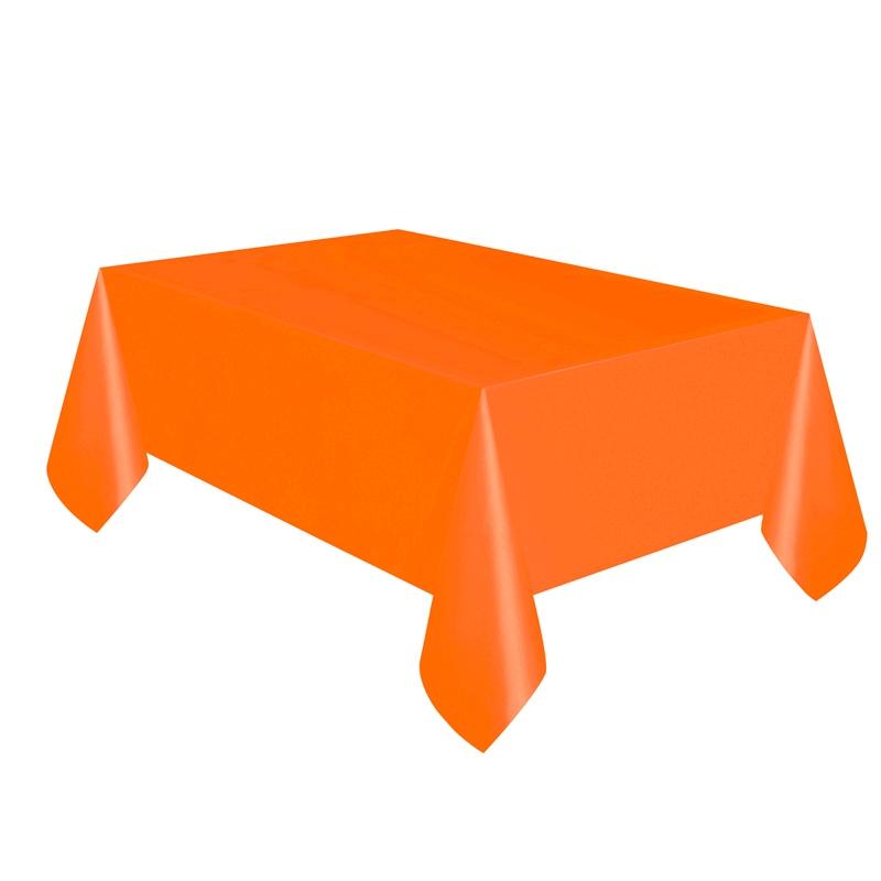 Mantel de Plástico Naranja 274 cm