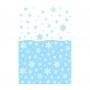 Mantel de Plástico Azul con Copos de Nieve