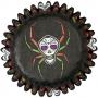 Mini cápsulas para hornear calavera Halloween