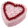 Molde forma corazón rojo 22cm