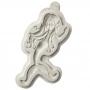 Molde de silicona con forma de sirena