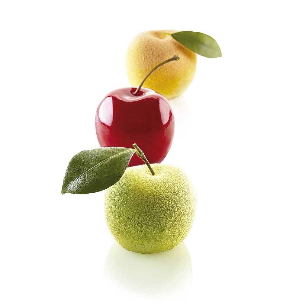 Molde de Silicona Manzana, Cereza y Melocotón