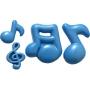 Molde de silicona notas musicales