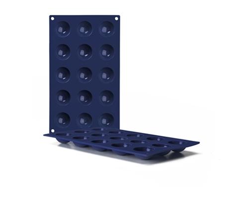 Molde de silicona Semiesferas 15 cavidades