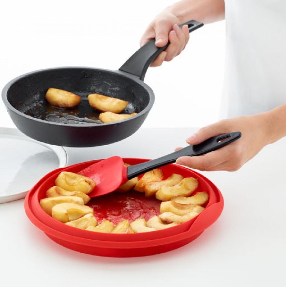 Molde de silicona y plato de cerámica para tarta tatin 24cm