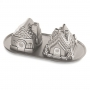 Molde Nordic Ware Gingerbread House Duet