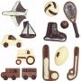 Set 2 Moldes para Chocolate Transportes y Deportes