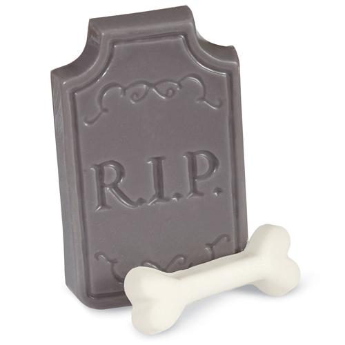 Molde para chocolate lápida y huesos