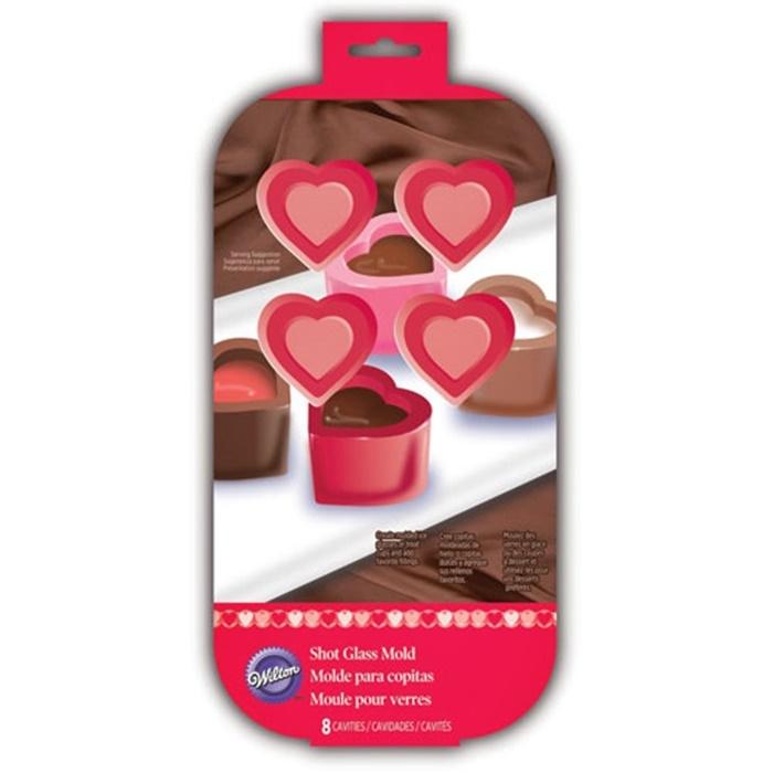 Molde de Silicona para hacer Vasitos de corazón