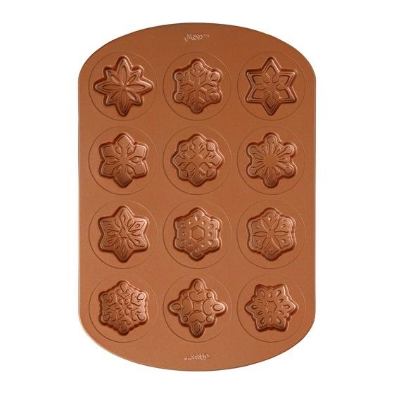 Molde para hornear galletas copos de nieve
