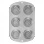 Molde para hornear muffins 6 cavidades