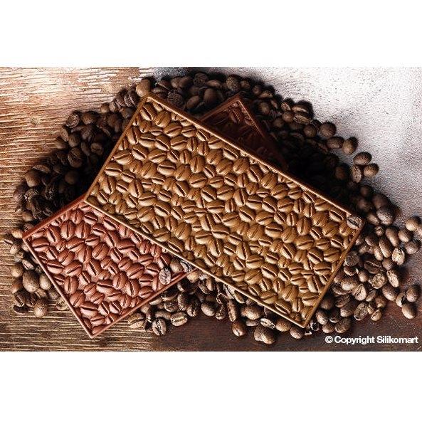 Molde silicona granos de café