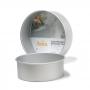 Molde Redondo de Aluminio Anodizado 20 cm x 10 cm de alto