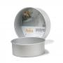 Molde Redondo de Aluminio Anodizado 25 cm x 10 cm
