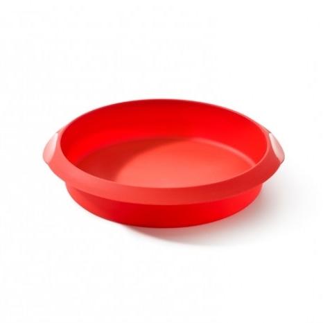 Molde redondo de silicona rojo 24cm
