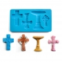 Molde silicona 3D Cruces