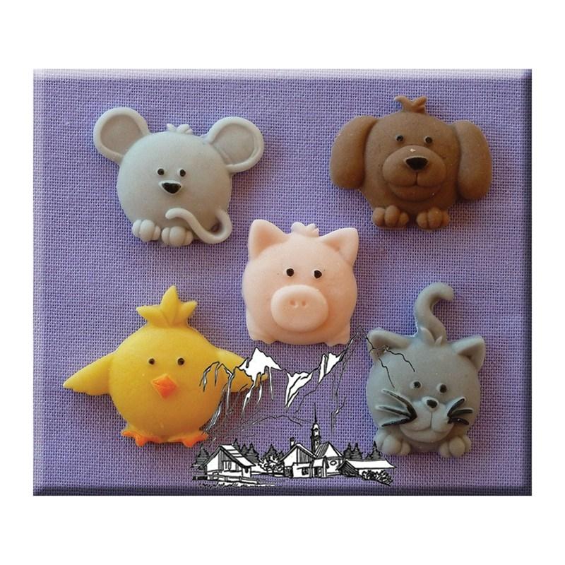 Molde de Silicona Cute Animals