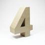 Número 4 de Cartón 17cm