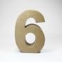 Número 6 de Cartón 17cm