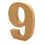 Número 9 de Madera 12cm