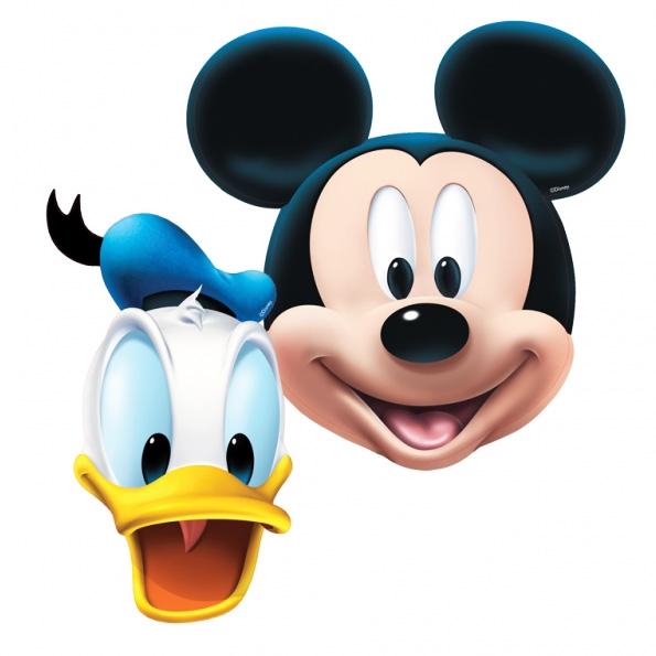 Pack 4 máscaras Mickey y Donald