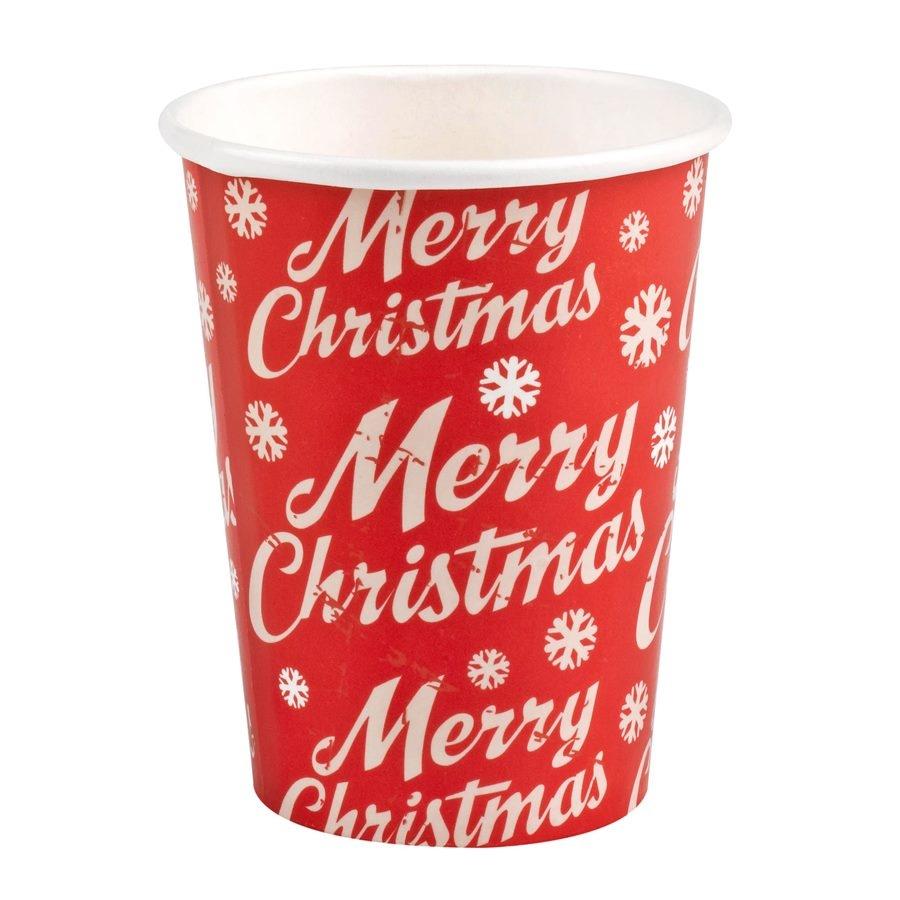 Pack 8 vasos Merry Christmas