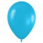 Pack de 100 globos color Azul Caribe Mate 12cm