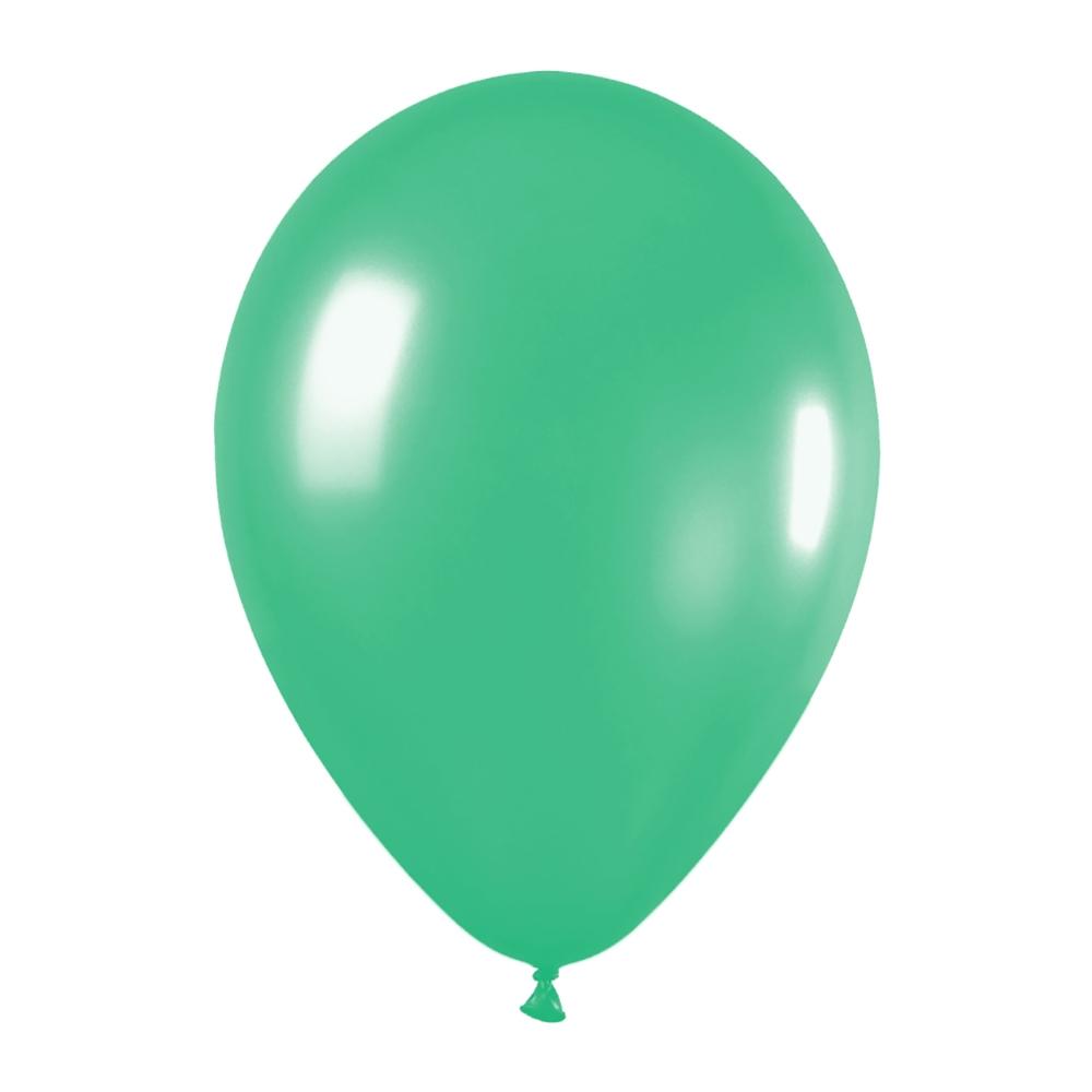 Pack de 100 globos color Verde Mate 12cm