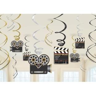 Pack de 12 decoraciones colgantes Hollywood