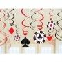 Pack de 12 Decoraciones colgantes Poker
