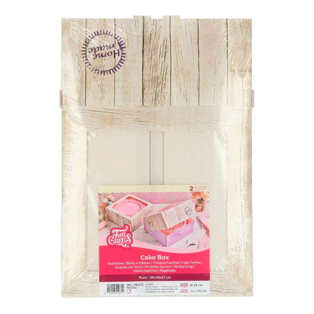Pack de 2 cajas para tarta Home Made 26x26cm