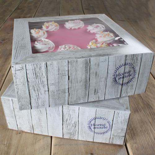 Pack de 2 cajas para tarta Home Made 32x32cm
