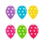 Pack de 25 Globos Link o loon Lunares Multicolor 30 cm