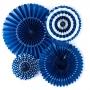 Pack de 4 abanicos azul marino