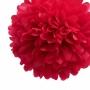 Pack de 4 Pompones de Seda 35cm color Rojo