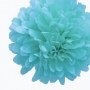 Pack de 4 Pompones de Seda 35cm color Turquesa