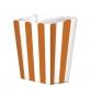 Pack de 5 cajitas para palomitas naranjas y blancas