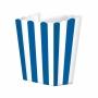 Pack de 5 cajitas para palomitas azul y blanco